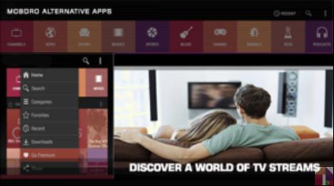 Mobdro Para Android também fornece uma característica perfeita de streaming